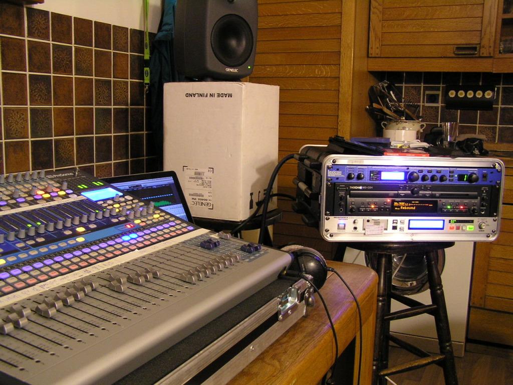 Opnameset in de keuken van het Bluesmoose Cafe