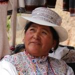 Peru - souvenirverkoopster