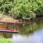 Suriname - Korjalen aan de rivier