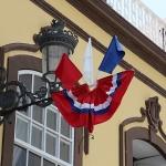La Palma - gevel in de hoofdstraat van de hoofdstad