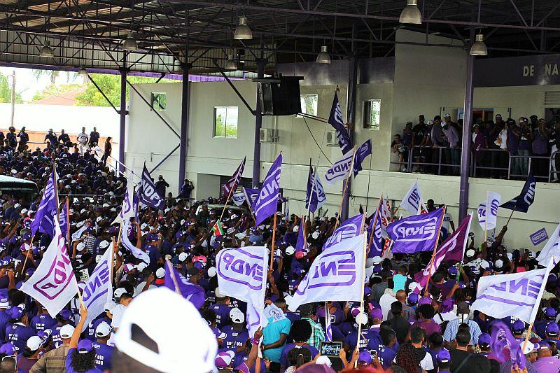 Paramaribo - verkiezing - NDP - bijeenkomst