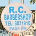 Paramaribo - Ormosiastraat - Barbershop uithangbord