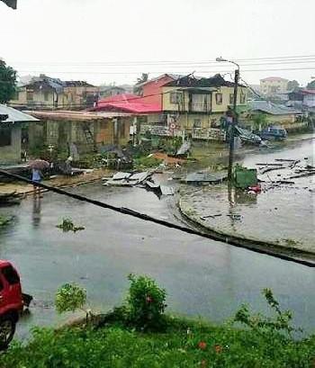 Schade door wervelwind op 21 juli 2015
