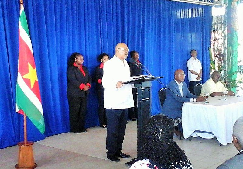 Ondertekening regeerakkoord - Speech Bouterse