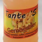 Gemberbier van Tante S - etiket