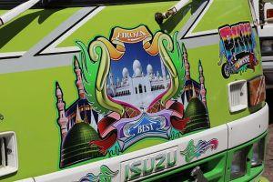 Paramaribo - Busbeschildering