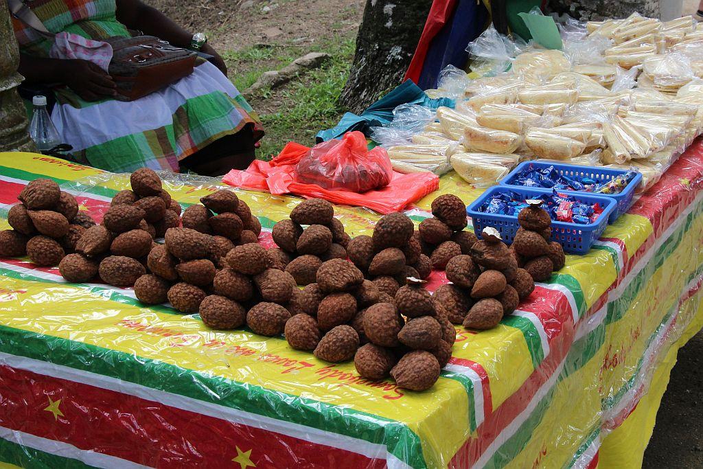 Palmentuin - Verkoop fruit