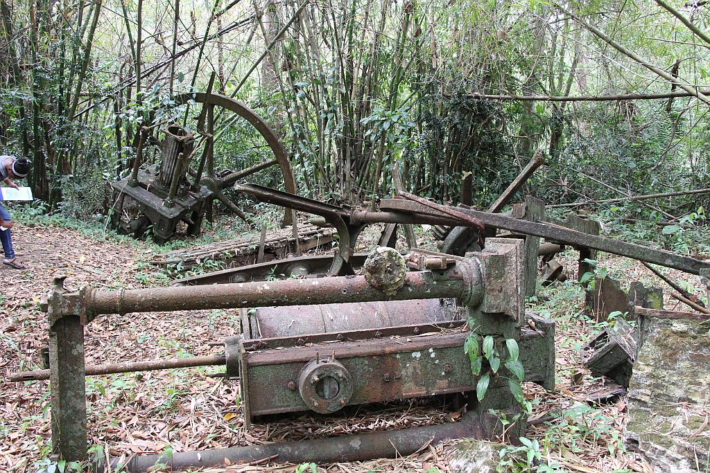 Oude stoommachine bij Warappakreek