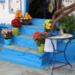 Samos - Vourliotes - Blue chairs