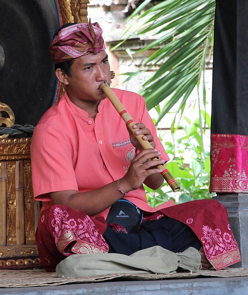 Bali - Ubud - Barong dans - Gamelan muzikant