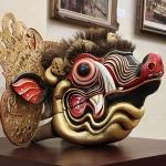 Kunst in het Puri Lukisan museum in Ubud