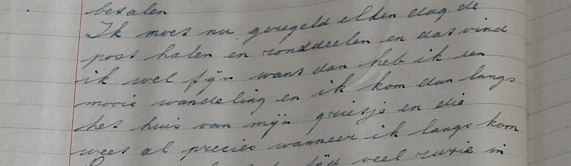 Detail van een bladzijde van originele document