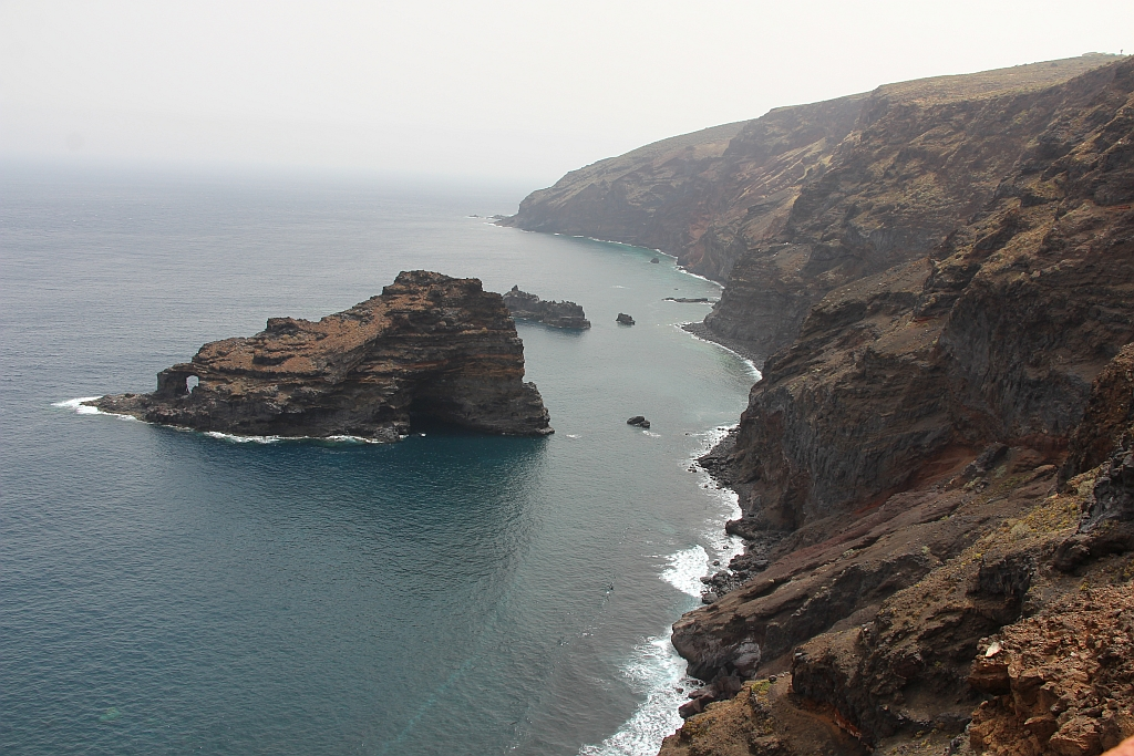 Rotskust in het noorden van la Palma