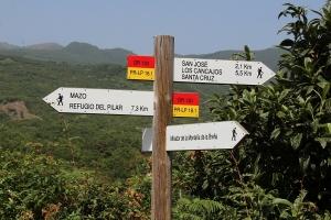 La Palma, een wegwijzer op een wandelroute
