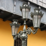 Peru - Lima - Straatlantaarn op Plaza de Armas