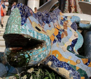 Hagedis in Park Guell